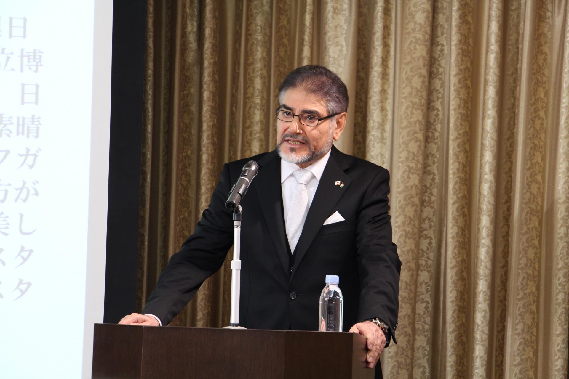 アフガニスタン・イスラム共和国駐日特命全権大使 セイエド・M・アミーン・ファテミ閣下