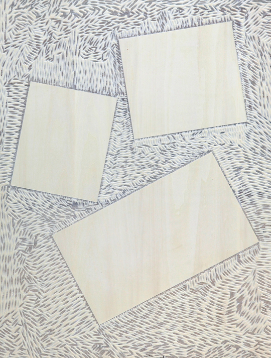 豊嶋康子「四角形」 2017年、合板・オスモ塗料 60.5×45.5×3cm