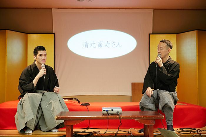 (左から)清元斎寿、山﨑徹