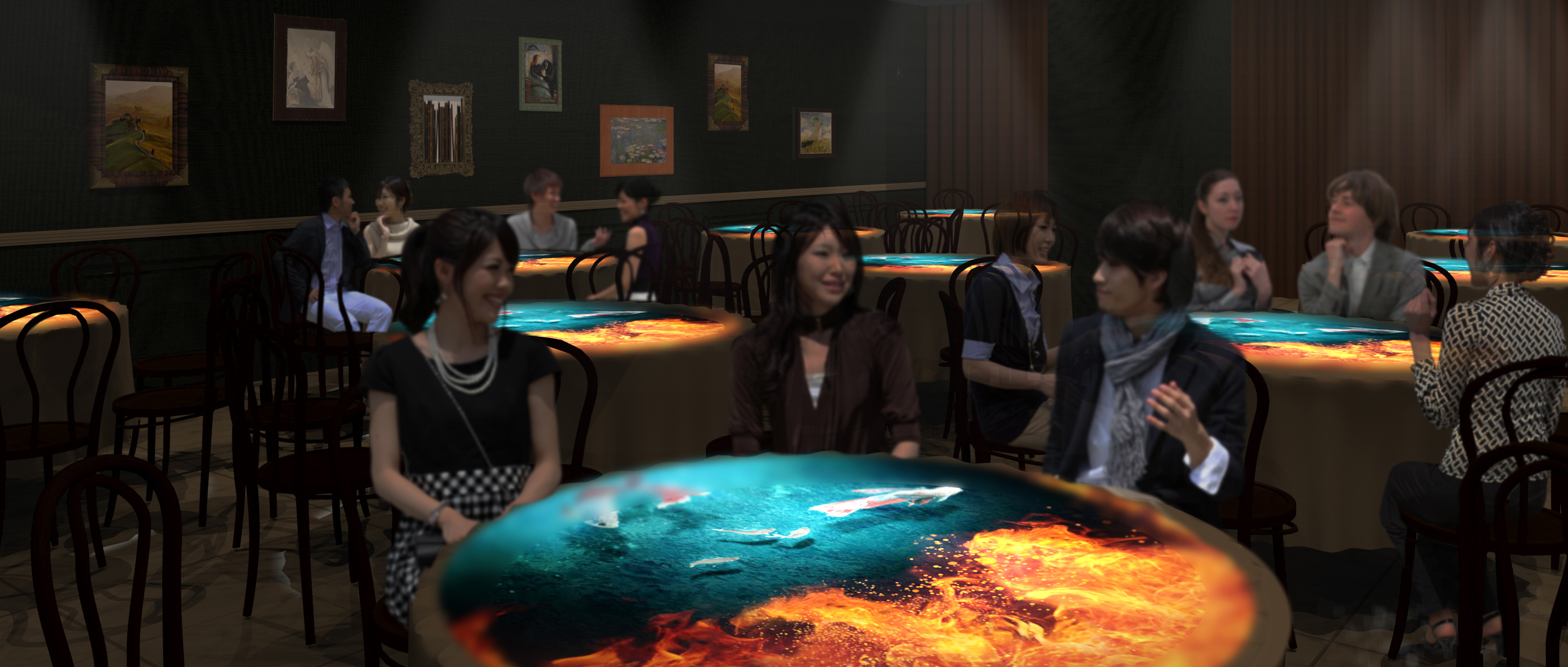 4階 PTGルーム Projection Table Game「不思議な晩餐会へようこそ」