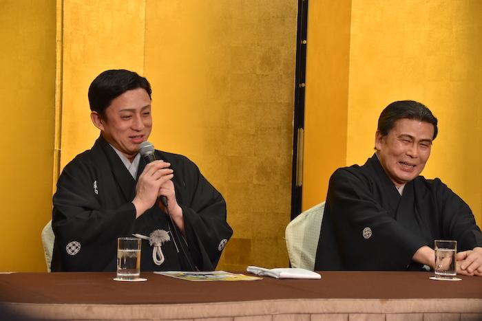 二代目松本白鸚(右)と十代目松本幸四郎