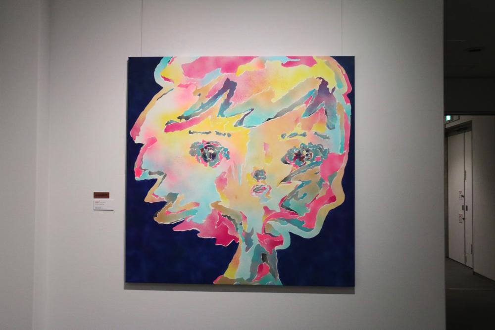 中矢篤志 《アイコソハスベテ》2018年 アクリル・キャンバス 162×162cm
