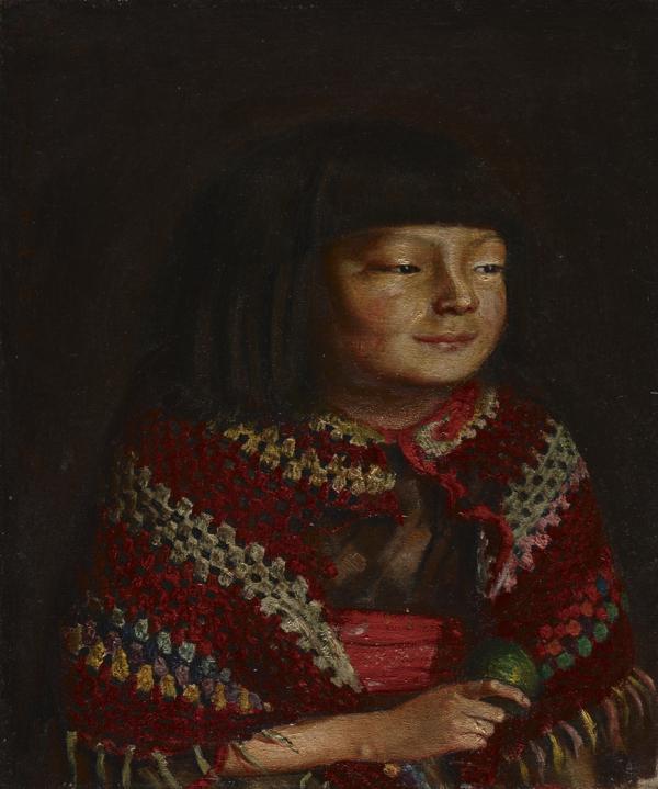 《麗子微笑》1921年10月15日 油彩・麻布 東京国立博物館蔵 *重要文化財 [山口展、名古屋展に出品予定]Image:TNM Image Archives