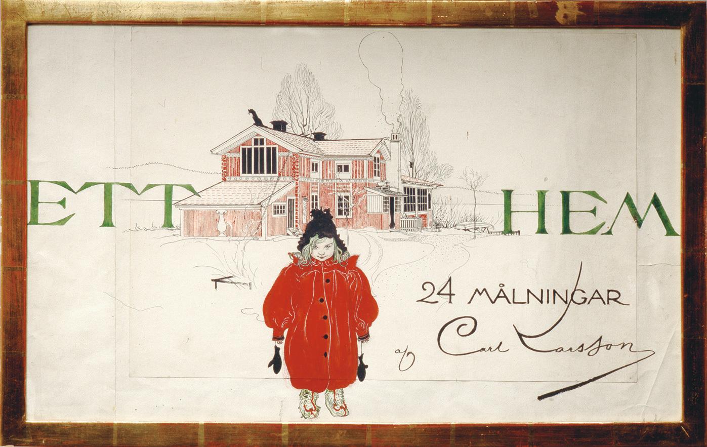 画集『わたしの家』 1899年刊 カール・ラーション・ゴーデン (C) Carl Larsson-gården