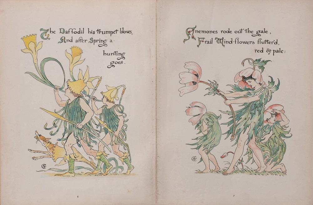 ウォルター・クレイン『フローラの饗宴』1889年個人蔵