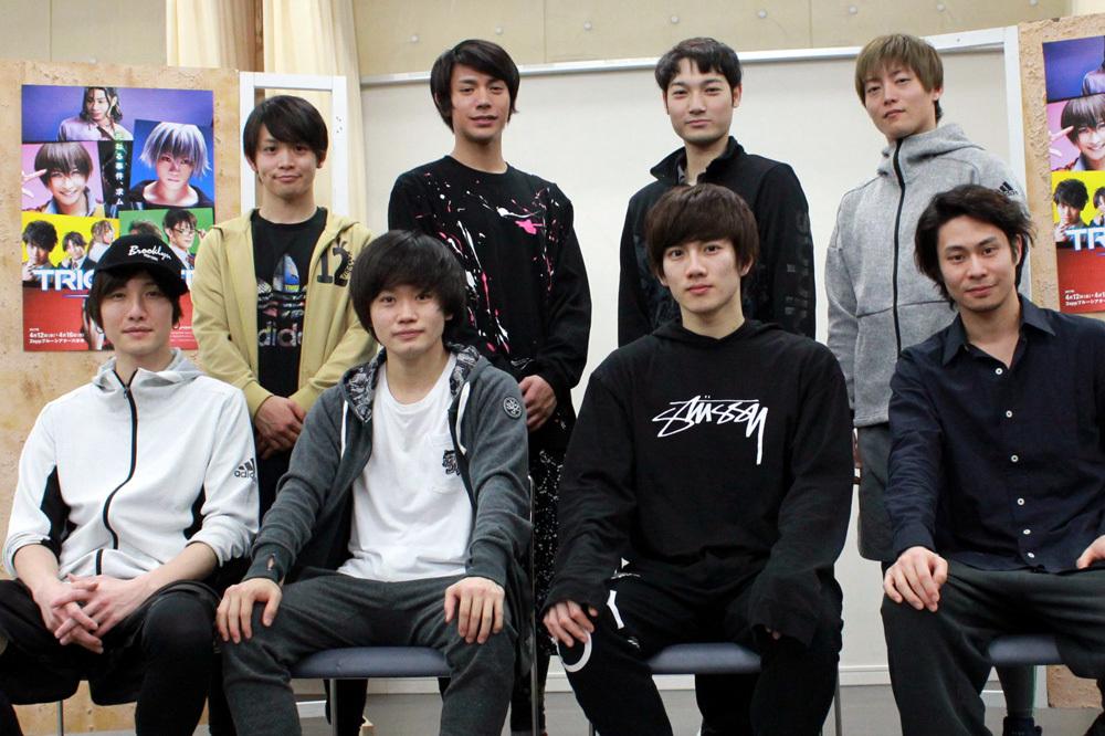 (上段左から)輝山立、古谷大和、斎藤准一郎、山口大地(下段左から)細貝圭、鳥越裕貴、赤澤遼太郎、鯨井康介