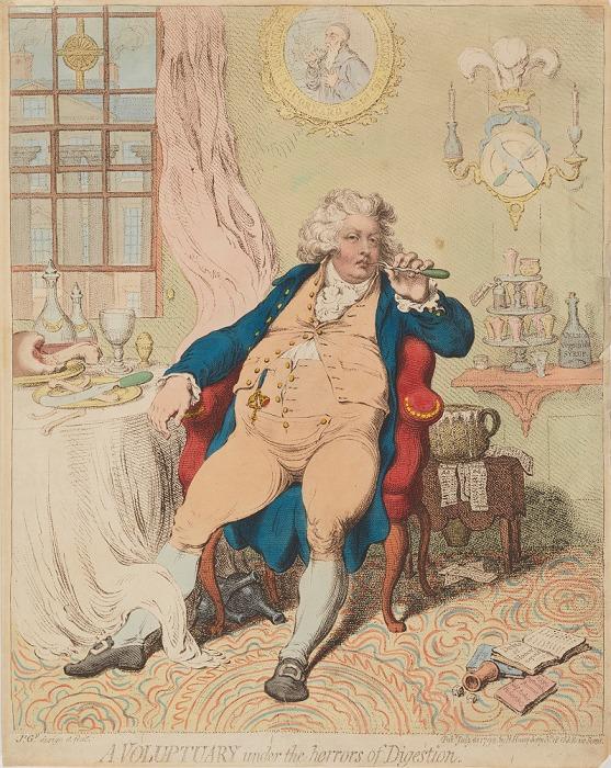 《消化におびえる酒色にふけた人》(ジョージ4世) 'A Voluptuary Under the Horrors of Digestion'(King George IV)