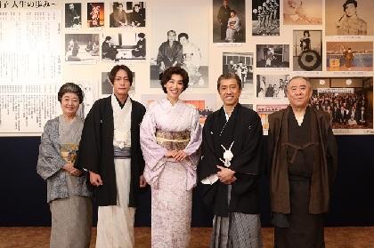 真琴つばさ、筧利夫が桂米朝夫妻を演じる 『喜劇 なにわ夫婦八景 米朝・絹子とおもろい弟子たち』初日開幕