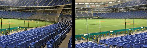 「レジェンズシート」は3塁側前方に設置される