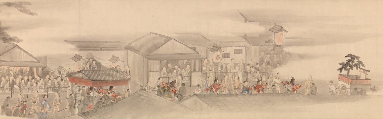 横山華山《祇園祭礼図巻》下巻部分 天保6-8(1835-37)年 個人蔵