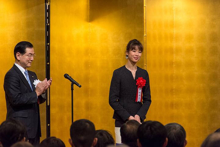 右:中村祥子 左:堂故 茂・文部科学大臣政務官