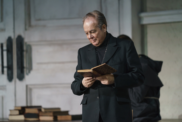 Ferruccio Furlanetto as Padre Guardiano (c) ROH 2019 photographed by Bill Cooper