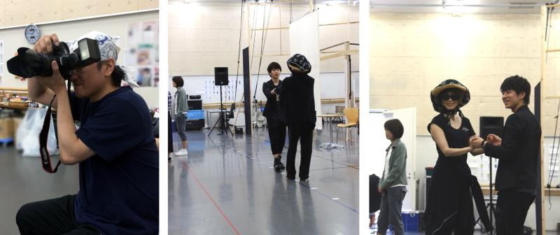 (左)駒田カメラマン、(中)&(右)駒田カメラマン撮影写真
