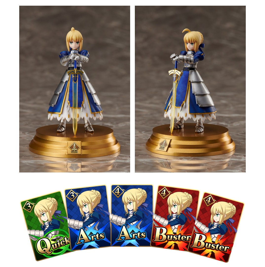『Fate/Grand Order Duel -collection figure-』コマンドカード&フィギュア (C)TYPE-MOON / FGO PROJECT