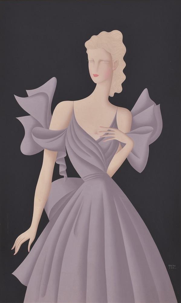 《紫》、1939年、油彩・キャンヴァス、129.6×79.7cm、損保ジャパン日本興亜