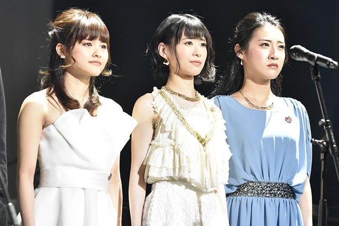 (左から)昆夏美、唯月ふうか、松原凛子(撮影:原地達浩)