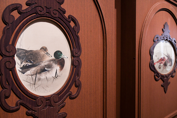 《迎賓館赤坂離宮 七宝額原画 真鴨に葦》東京国立博物館蔵 (展示期間:3/27-4/25)