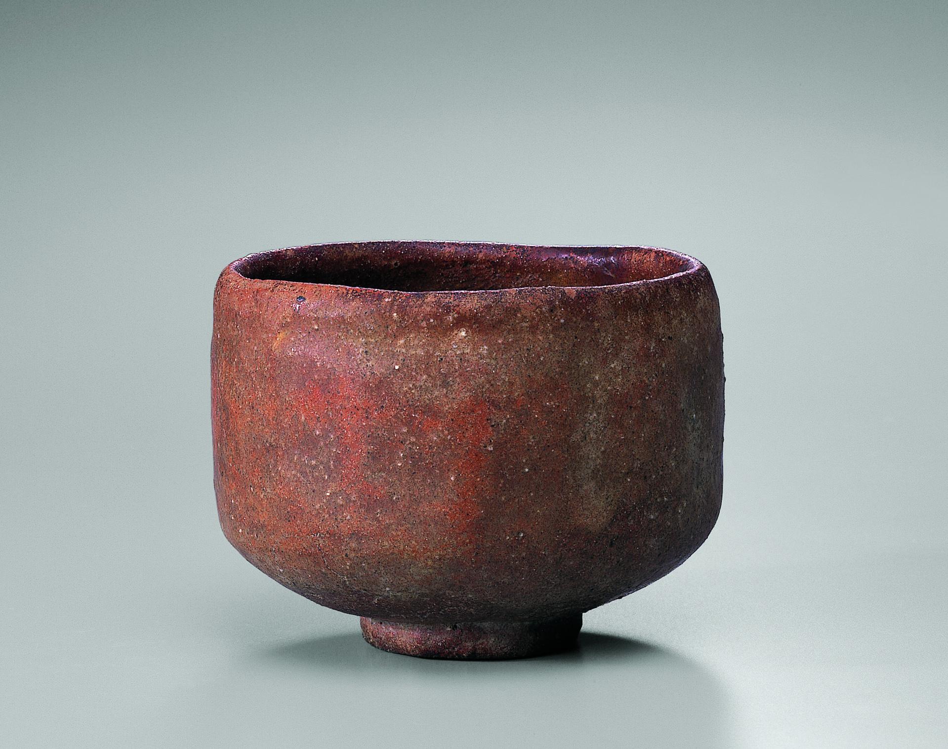 初代 長次郎 赤樂茶碗 銘 太郎坊 重要文化財 桃山時代(十六世紀) 裏千家今日庵蔵