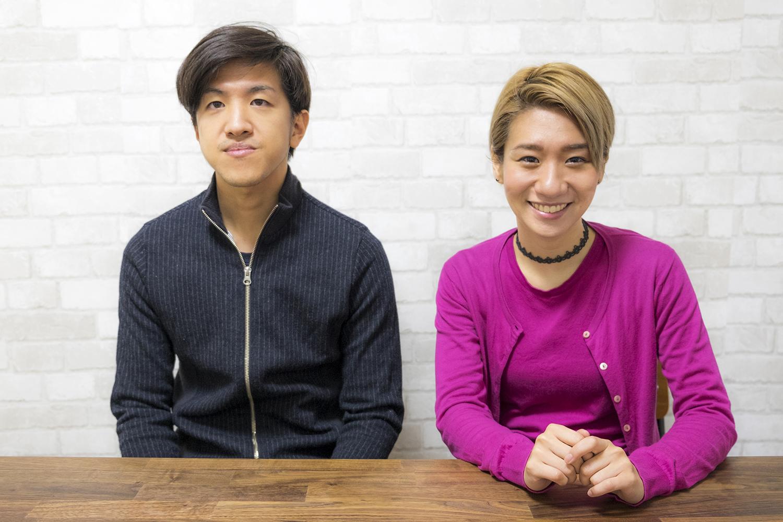 森田悠介(左)、桑原あい(右) (撮影:小室 敬幸)