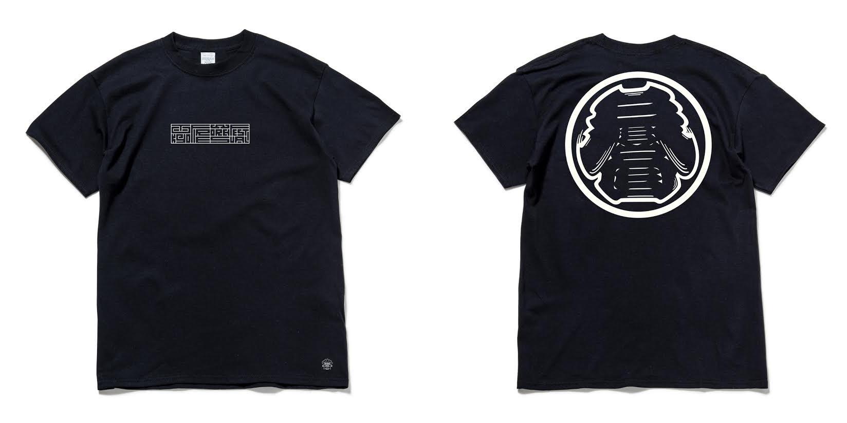 """コラボTシャツ 3,000円 表面プリントは""""Kanji-Graphy/カンジグラフィ""""にて「Tokyo FireWorks firestival」とプリントされています。前後共に蓄光プリントになっており、暗闇で光ります。"""