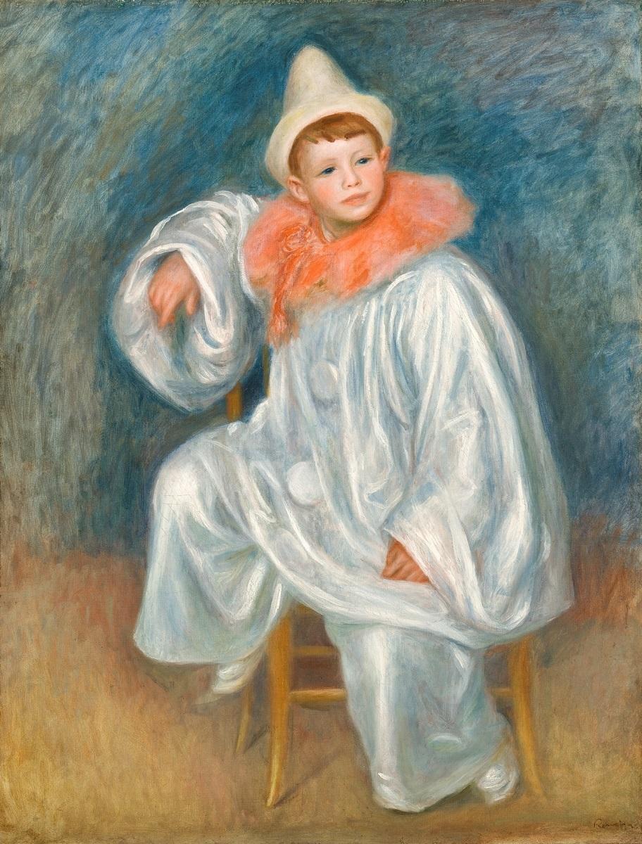 《白い服の道化師》ピエール・オーギュスト・ ルノワール、1901-1902年、Bequest of Robert H. Tannahill