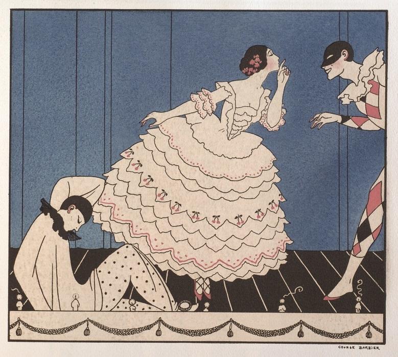 ジョルジュ・バルビエ『ル・カルナヴァル』/限定書籍『タマラ・カルサヴィナ』フランス1914年