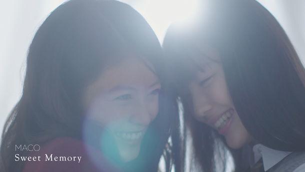 MACO「Sweet Memory」ミュージックビデオのワンシーン。