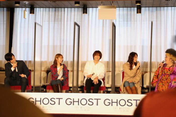 (左から)水田航生、桜井玲香、浦井健治、咲妃みゆ、森公美子
