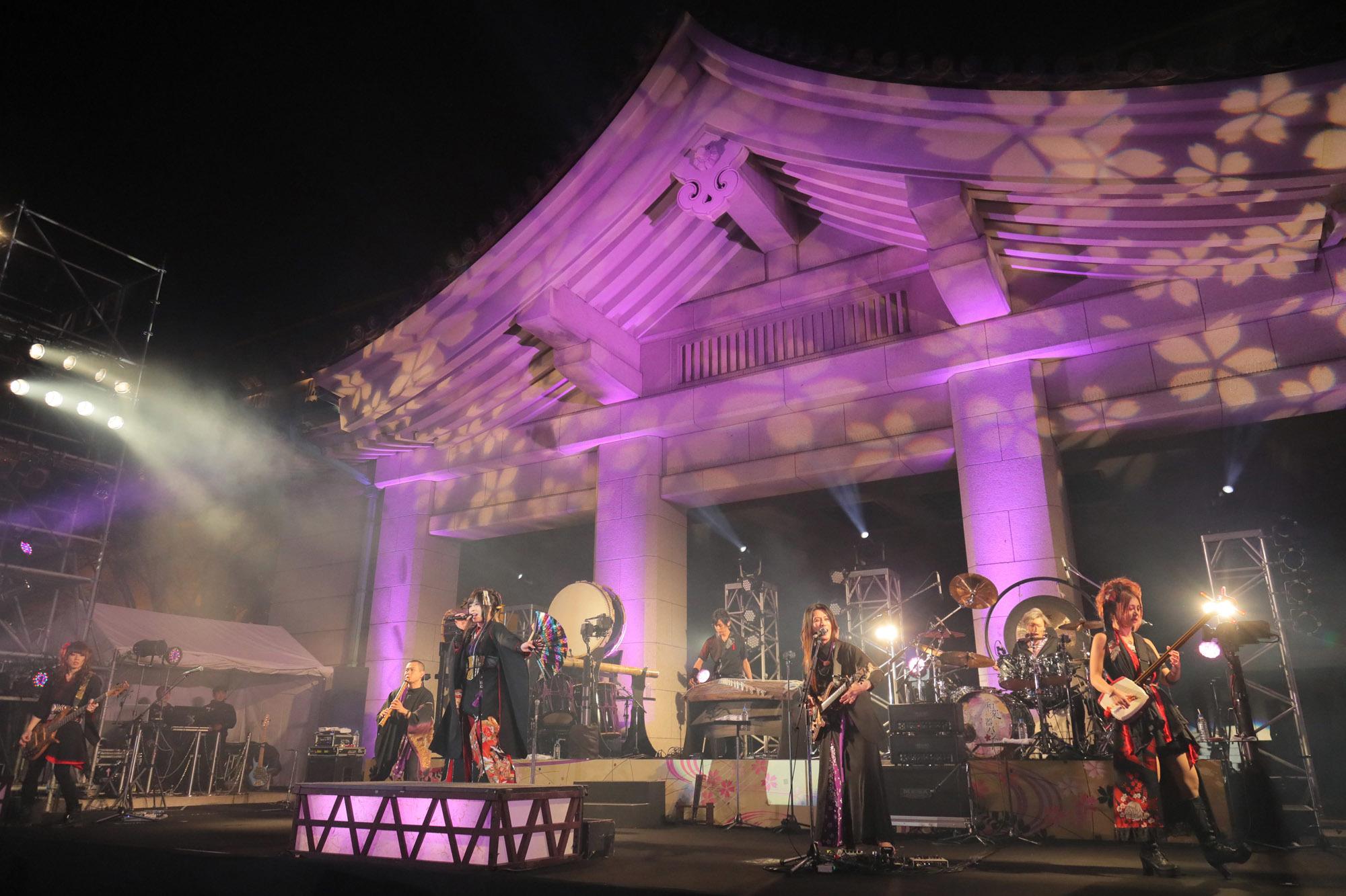 和楽器バンドフリーライブ 東京国立博物館