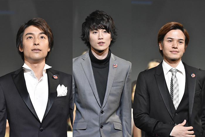 (左から)海宝直人、内藤大希、田村良太 (撮影:原地達浩)