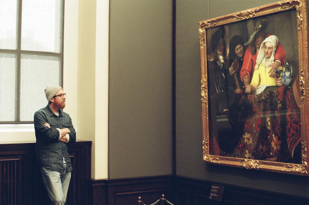 絵を見るまなざし。 (「取り持ち女」(ドレスデン国立美術館、 ドイツ)