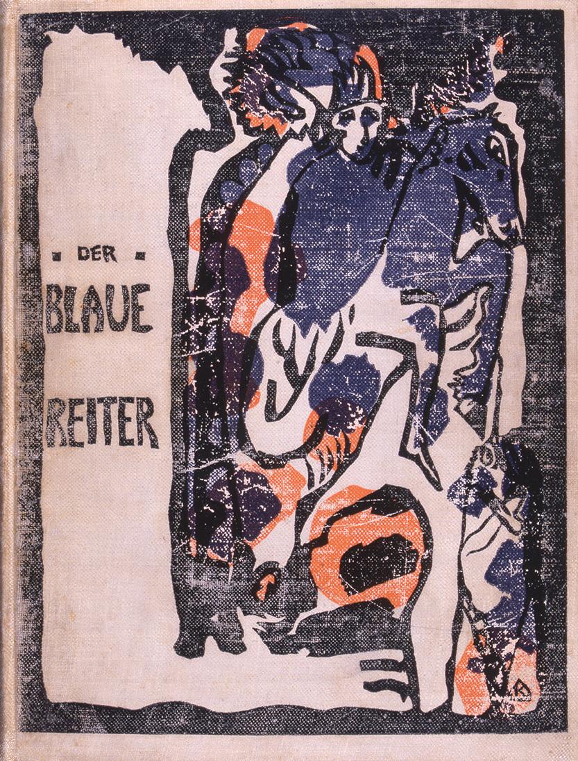 ヴァシリー・カンディンスキー『青騎士年鑑』表紙 1912年刊 宮城県美術館蔵