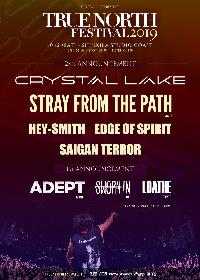 Crystal Lake『TRUE NORTH FESTIVAL 2019』ストレイ・フロム・ザ・パス、ヘイスミら第2弾ゲストを発表 関連公演の開催も決定