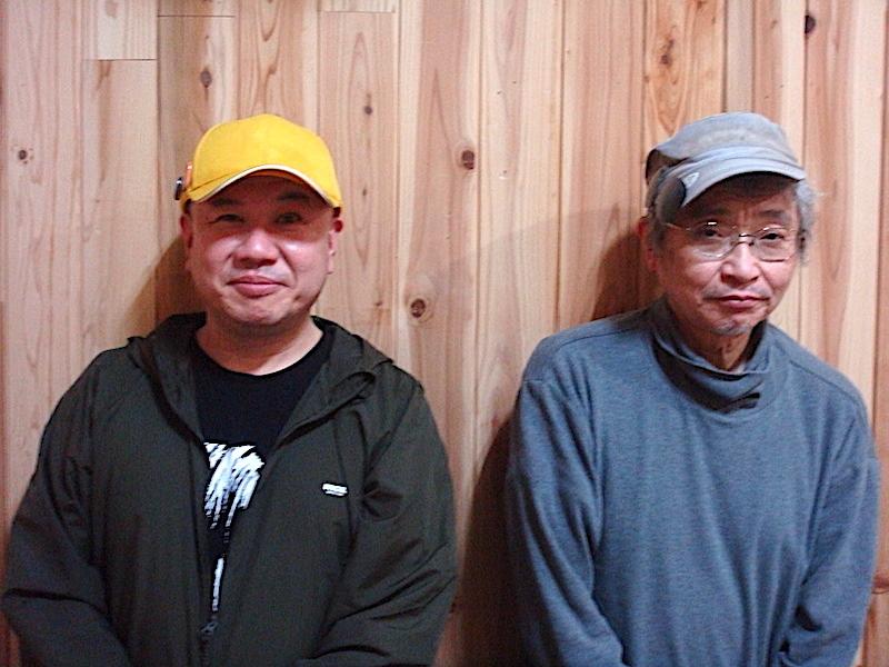 左から・出演者の二宮信也、作・演出・出演の北村想