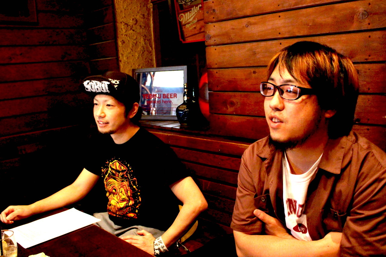 THE SKIPPERS  JAGGER(Vo/Gt) TAKAO(Ba)撮影=K兄
