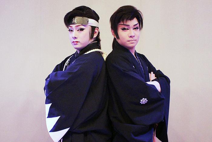 逢春座 浅井雷三若座長(左)・浅井劇団 浅井海斗座長(右)