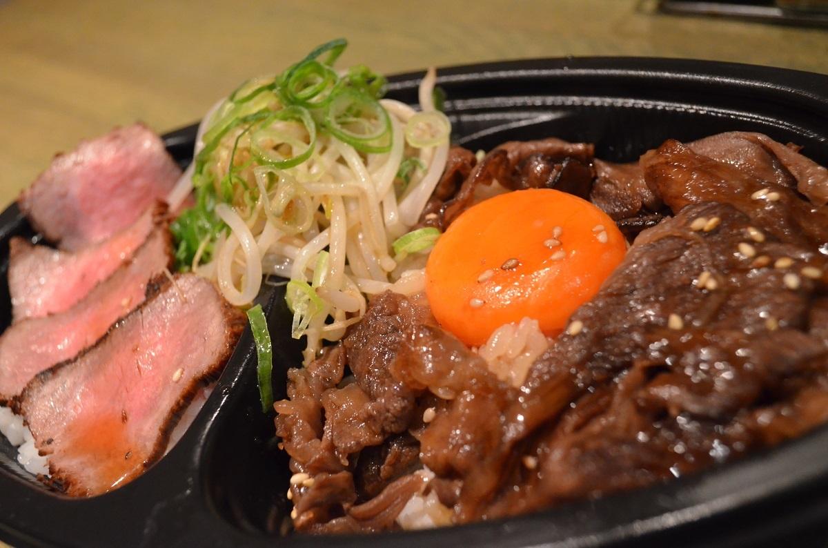 【肉タレ屋】ホンマに儲かりません!!黒毛和牛甘辛焼きすきとレアみたいなロースト肉の肉タレ丼