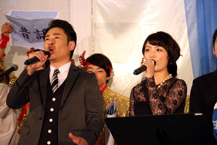 「ライオンの王が竜の王になりました」と語る坂元健児、森田涼花
