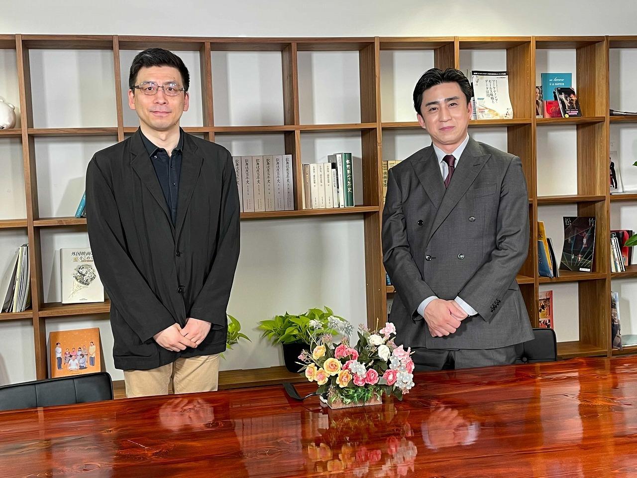 『時代劇づくりの裏側』第3回 (左から)春日太一、松本幸四郎