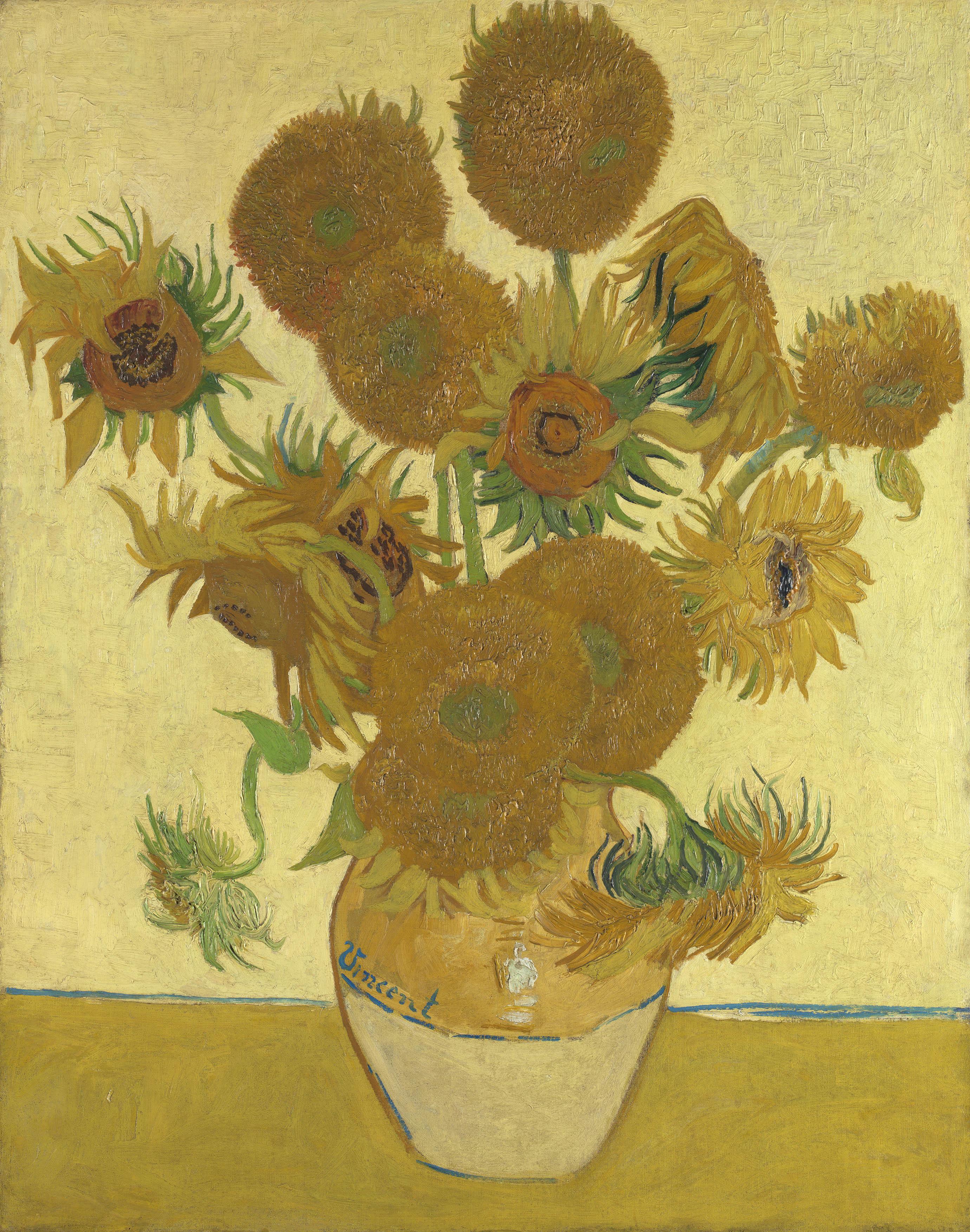 フィンセント・ファン・ゴッホ 《ひまわり》 1888年 油彩・カンヴァス 92.1×73cm  (C)The National Gallery, London. Bought, Courtauld Fund, 1924