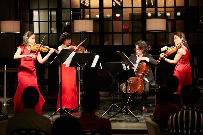 (左から)鈴木舞(Vn)、伊藤亜美(Vn)、内田麒麟(Vc)、安達真理(Vla)