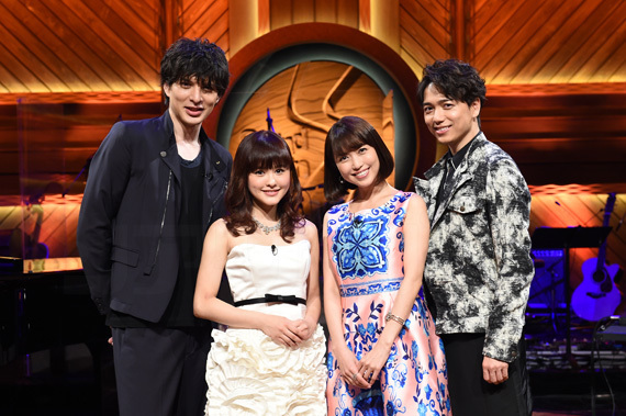 "BS-TBS「Sound Inn ""S""」 1 左から、城田優、昆夏美、新妻聖子、山崎育三郎"