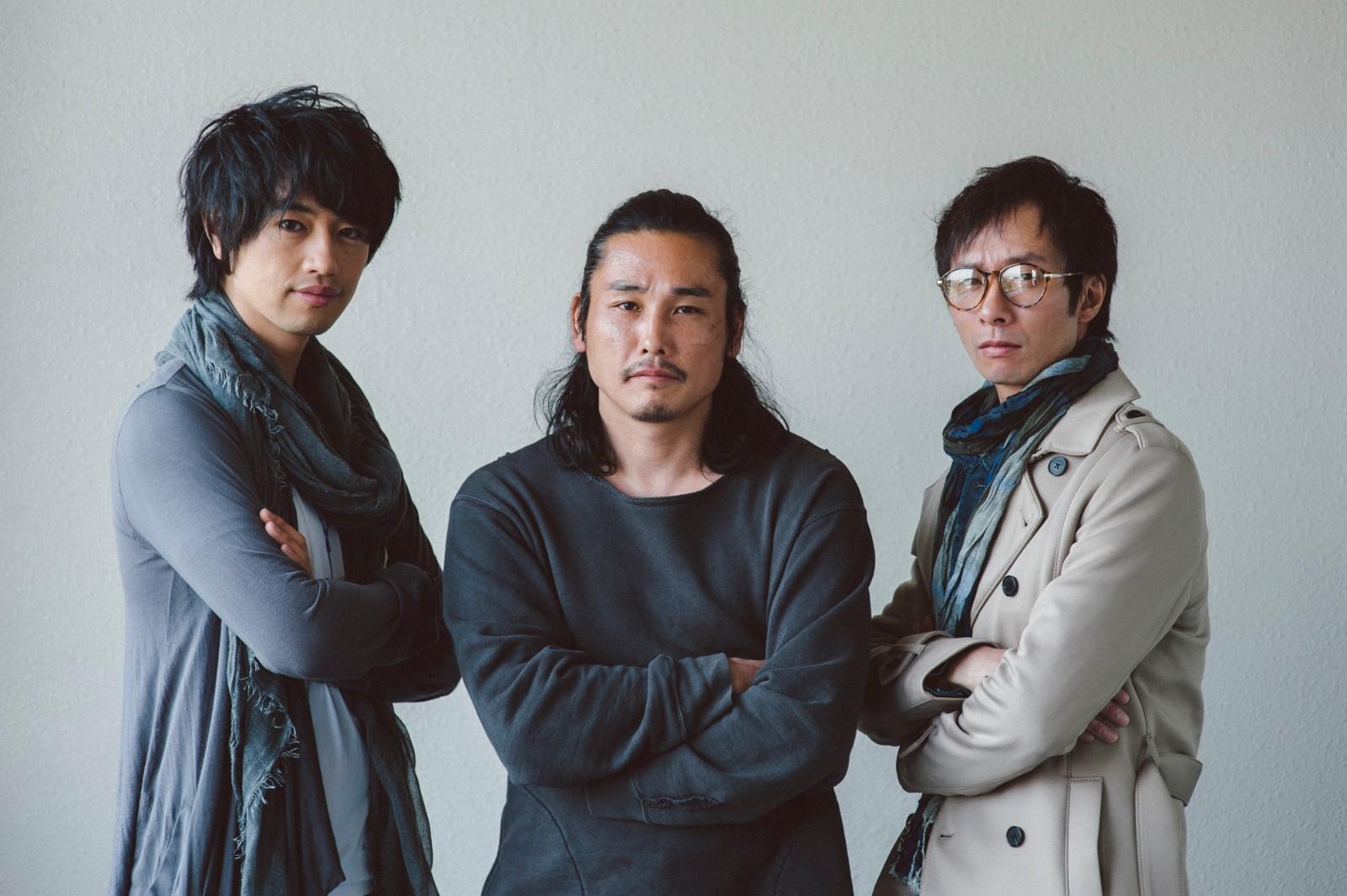 左から、斎藤工、坂口拓(TAK∴)、いしだ壱成