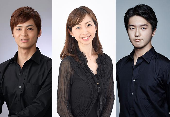 左から林田翔平(白の勇者)、渡辺恭子(王女)、池田武志 (黒の勇者)