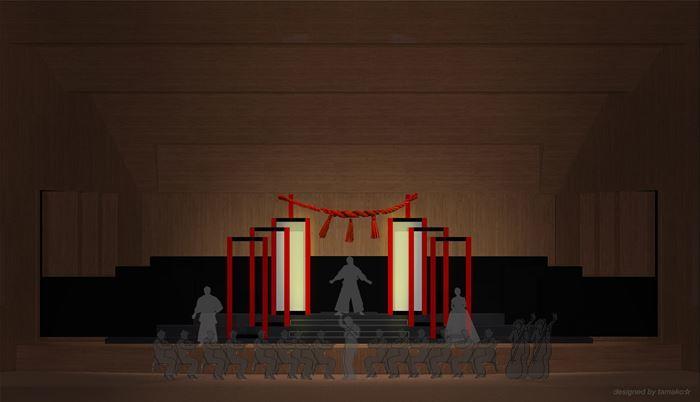 舞台美術家、tamako☆による舞台セットデザイン画