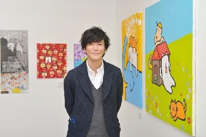 かっこいい犬。札幌に!パルコで田辺誠一画伯の絵画展