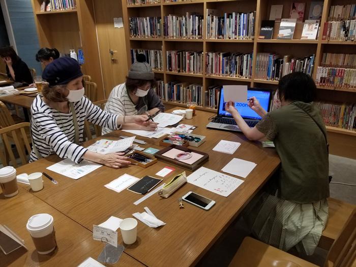 カリグラフィー/コロナ後の大阪でのミニイベントより(ブックフェスタ・ジャパン2020でも実施予定)
