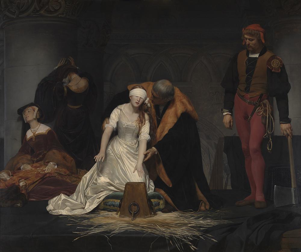 ポール・ドラローシュ 《レディ・ジェーン・グレイの処刑》 1833年 油彩・カンヴァス ロンドン・ナショナル・ギャラリー蔵 Paul Delaroche, The Execution of Lady Jane Grey,  ©The National Gallery, London. Bequeathed by the Second Lord Cheylesmore, 1902