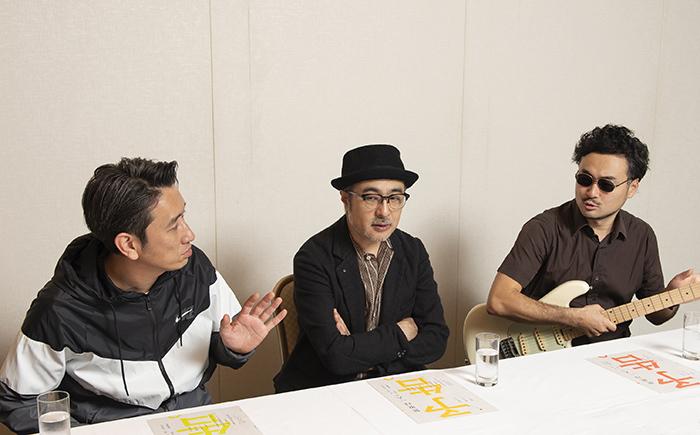 (左から)岩井秀人、松尾スズキ、前野健太
