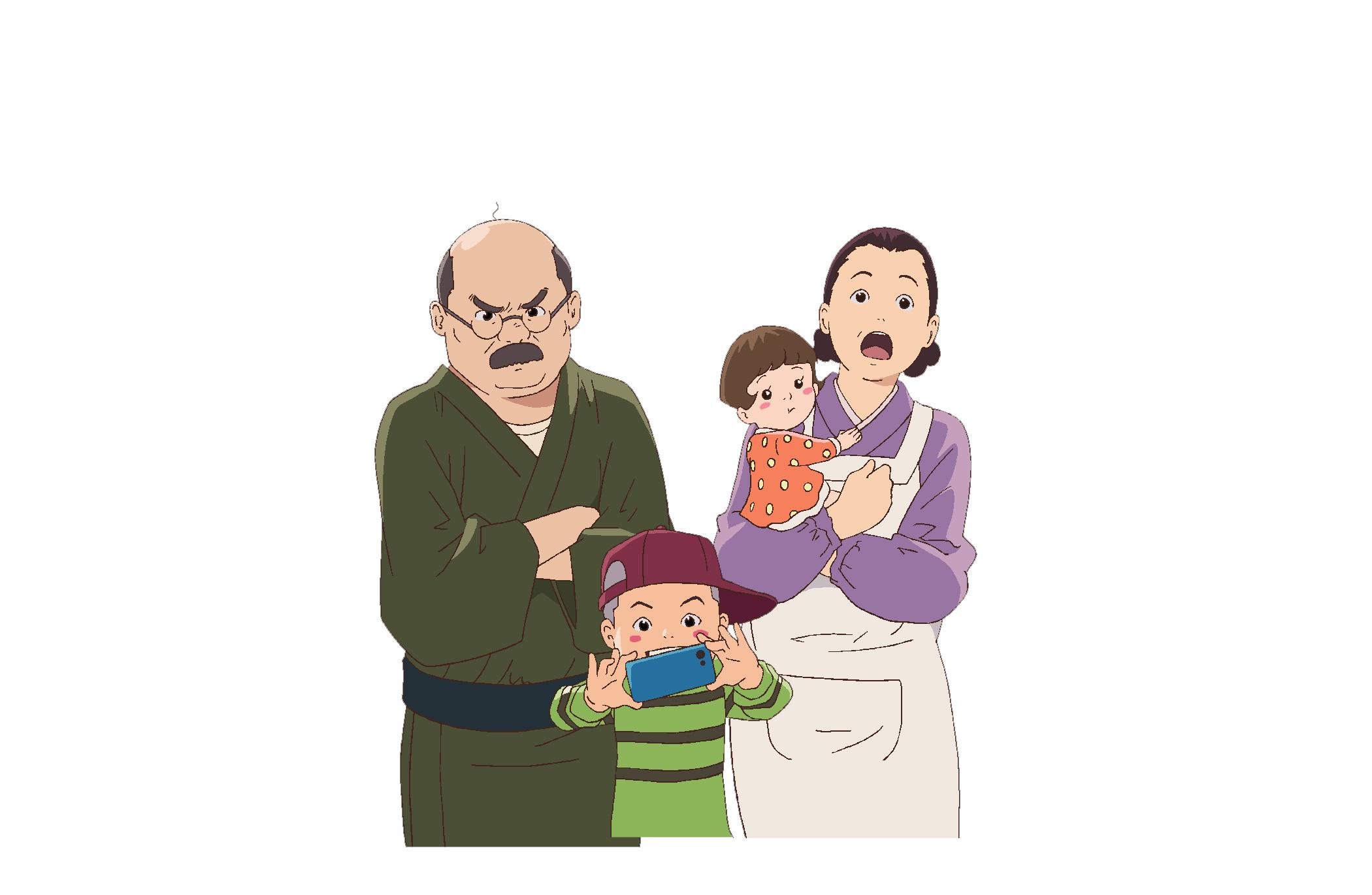 磯野一家 (C)長谷川町子美術館